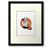 Chef Cook Cooking Pan Circle Framed Print