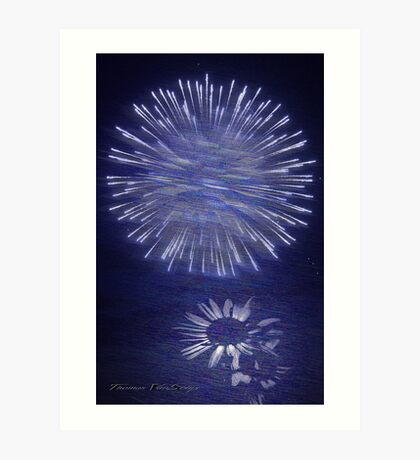 bedazzle in blue Art Print