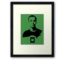 Sheldon  Green Lantern Framed Print