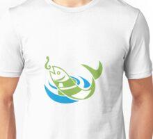 Fish Jumping For Bait Hook Unisex T-Shirt