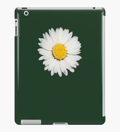 Closeup of a Beautiful Yellow and White Daisy flower Isolated iPad Case/Skin