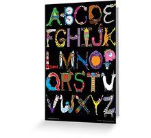 Children's Alphabet (black background) Greeting Card