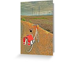Following the Power Lines Greeting Card
