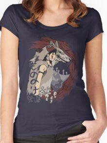 Keepers of the forest mononoke Women's Fitted Scoop T-Shirt
