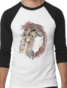 Keepers of the forest mononoke Men's Baseball ¾ T-Shirt