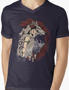 Keepers of the forest mononoke Mens V-Neck T-Shirt
