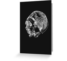 Human Skull Vintage Illustration Greeting Card