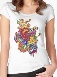 flying castle  Women's Fitted Scoop T-Shirt