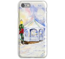 Christmas Gazebo Snow Scene iPhone Case/Skin