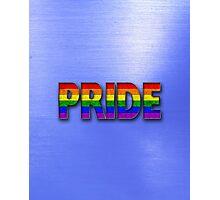 Rainbow PRIDE - Blue Photographic Print