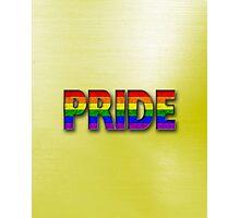 Rainbow PRIDE - Yellow Photographic Print