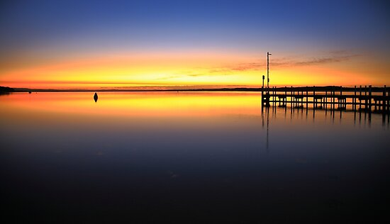 sunrise, inverloch jetty. coastal victoria by tim buckley | bodhiimages photography