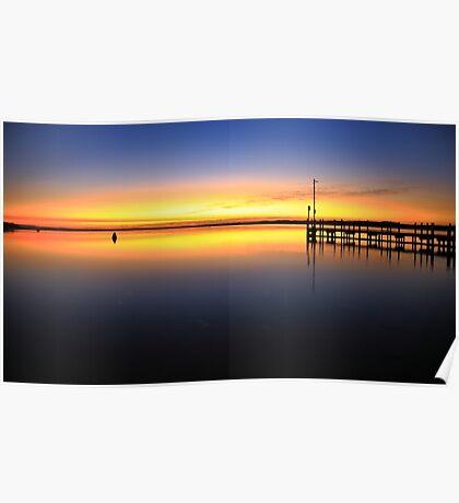 sunrise, inverloch jetty. coastal victoria Poster
