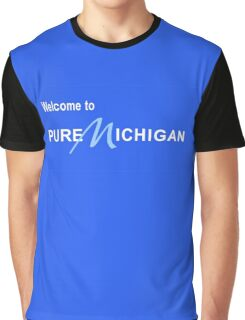 Welcome to Pure Michigan Road Sign Graphic T-Shirt