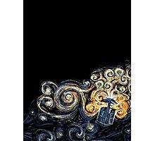 Van Gogh TARDIS Photographic Print