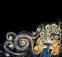 Van Gogh TARDIS by Mahée Stark