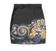 Van Gogh TARDIS Mini Skirt
