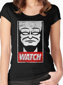 Obey The Watchers Women's Fitted Scoop T-Shirt