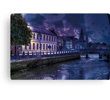 Night Storm - The City of  Cork, Ireland Canvas Print