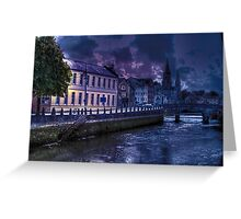 Night Storm - The City of  Cork, Ireland Greeting Card