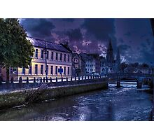 Night Storm - The City of  Cork, Ireland Photographic Print