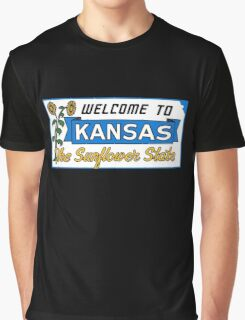 Welcome to Kansas Sign Vintage 50s Graphic T-Shirt