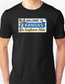Welcome to Kansas Sign Vintage 50s Unisex T-Shirt