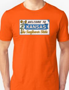 Welcome to Kansas Sign Vintage 50s T-Shirt