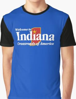 Welcome to Indiana Road Sign Graphic T-Shirt