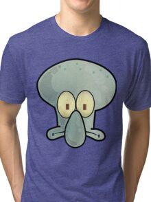 Spongebob Squidward 3 Tri-blend T-Shirt