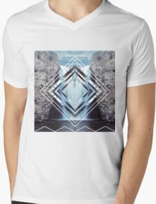 Waterfall Polyscape Mens V-Neck T-Shirt