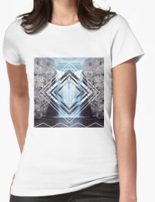 Waterfall Polyscape Womens Fitted T-Shirt