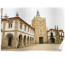 The clock tower in Caminha Poster