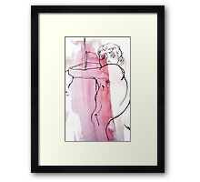 Red Man Posing Framed Print