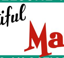 Welcome to Beautiful Maine Road Sign Vintage 80s Sticker