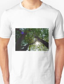 Rays Through the Branches Unisex T-Shirt