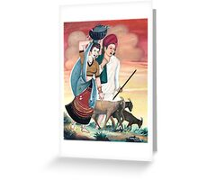 Village Couple Greeting Card