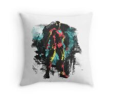 Dressed in Iron Throw Pillow