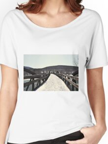 Snow Covered Bridge Women's Relaxed Fit T-Shirt