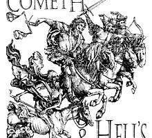 Apocalypse, Four Horsemen of the Apocalypse, Durer, Retribution Cometh & Hell's Close behind! Biblical by TOM HILL - Designer