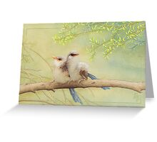 Juvenile variegated fairy-wrens card Greeting Card