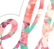 Floral Hello Typography Sticker