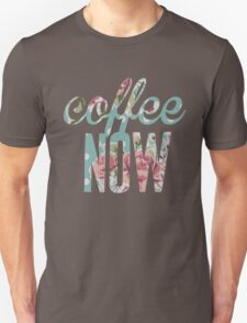 Polka Dot Floral Coffee Now T-Shirt