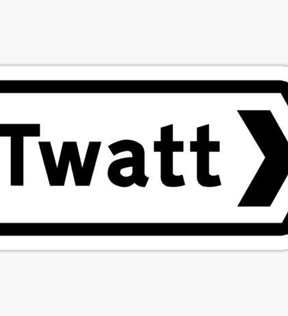 Twatt, Road Sign, UK Sticker