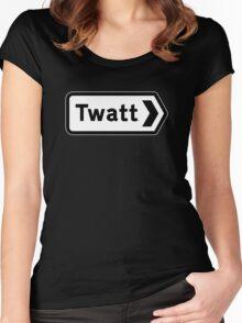 Twatt, Road Sign, UK Women's Fitted Scoop T-Shirt