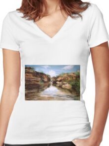 The Gorge Women's Fitted V-Neck T-Shirt
