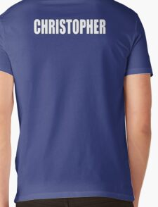 CHRISTOPHER, Topher, Name, Tag, Chris, Kit Mens V-Neck T-Shirt