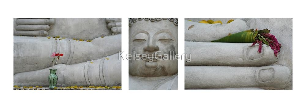 Fall Buddha on White by KelseyGallery