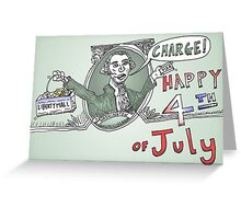 George Washington charge l'independence Greeting Card