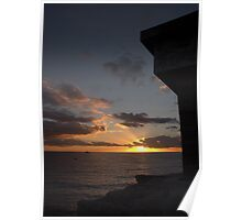 Battery sunrise Poster